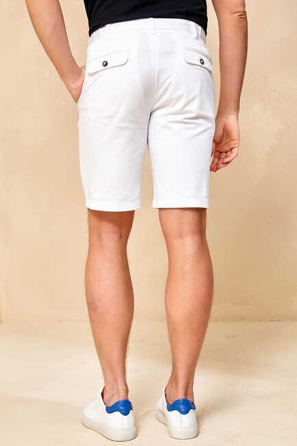ALTEANO BERMUDA SHORTS - WHITE