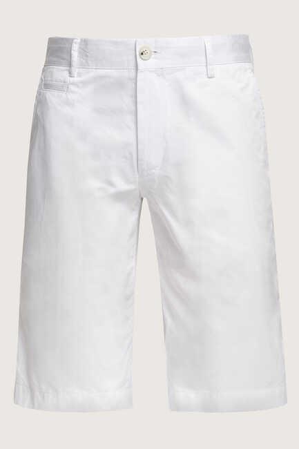 CUSCO BERMUDA SHORTS - WHITE