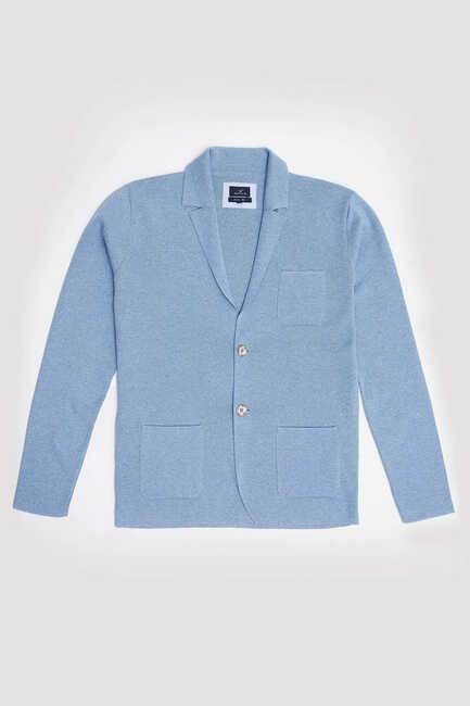 BONAIRE KNITWEAR JACKET - BLUE