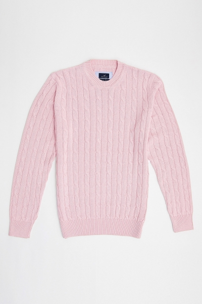 SMILE - GUSTAVIA BAIDED KNIT SWEATER - PİNK (1)