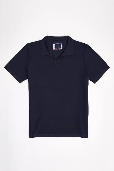 SMILE - MULLINS KNIT MAN POLO - NAVY (1)