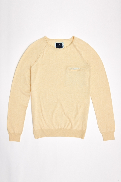SMILE - VINCENT ROUND NECK KNITWEAR - YELLOW (1)