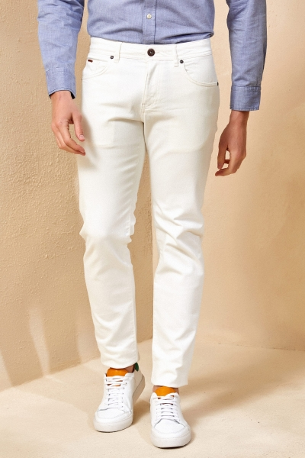 SMILE - HAENA 5 POCKET PANTS - WHITE