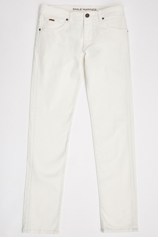 SMILE - HAENA 5 POCKET PANTS - WHITE (1)