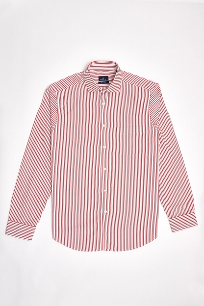 SMILE - FLAMANDS STRIPED SHIRT - RED (1)