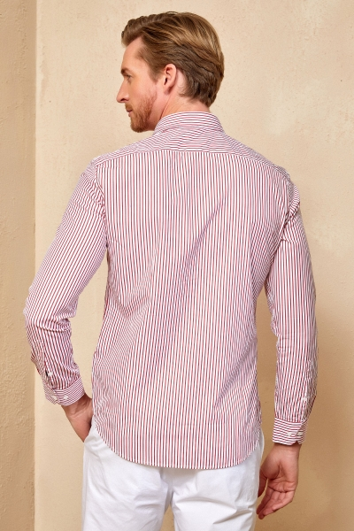FLAMANDS STRIPED SHIRT - RED