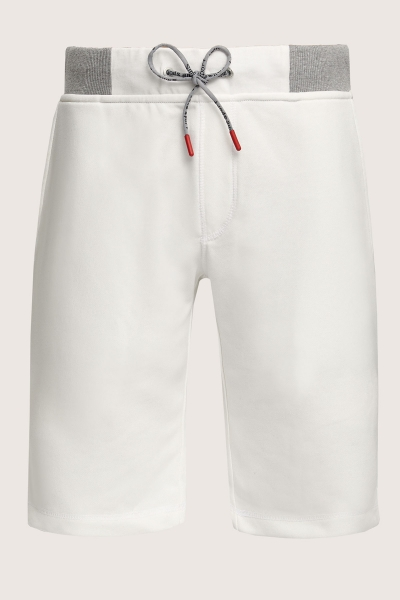 SMILE - KNIP SWEAT SHORT - OFF WHITE (1)