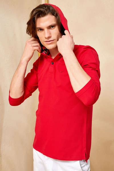TOBAGO HOODY SWEATSHIRT - RED