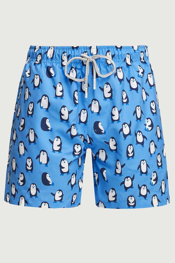 SMILE - PENGUI MAN SWIM SHORTS - BLUE