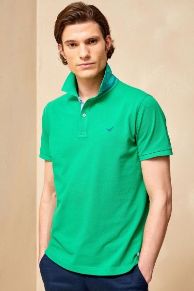 ANTIGUA BIG SIZE GREEN MAN POLO T-SHIRT