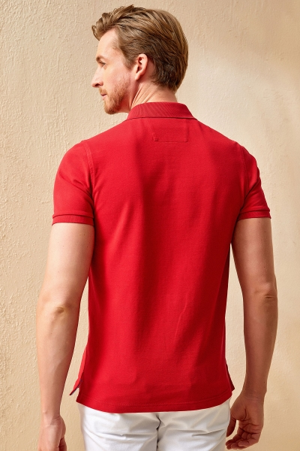 ANTIGUA BIG SIZE RED MAN POLO T-SHIRT