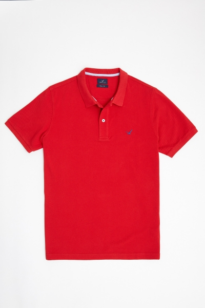 SMILE - CAYMAN BIG SIZE RED MAN POLO T-SHIRT (1)