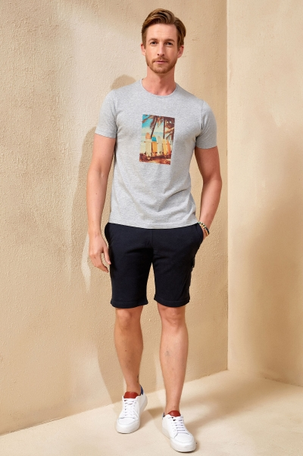 SURFY MAN T- SHIRT - GREY MELANGE