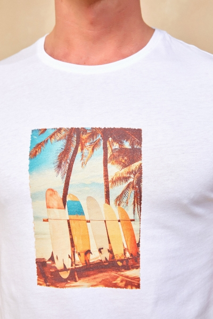 SURFY MAN T- SHIRT - WHITE